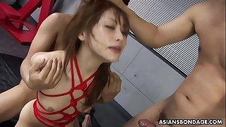 BDSM annihilation with three mild that she loves