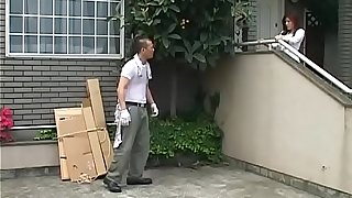Japanese wife can't forget the worker
