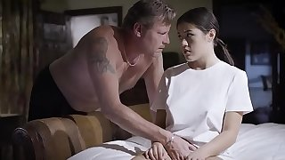 Abusive father force stepdaughter to screw