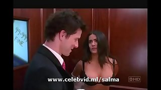 SALMA HAYEK DELETED BRA SLIP IN MOVIE