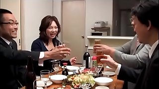 Japanese Drunk Wife get compelled by 2 husband friends (Full: shortina.com/owM2Y)