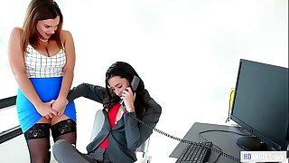 Caught on having hook-up in the office! - Georgia Jones, Anastasia Knight and Natasha Nice