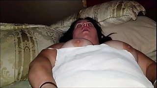Sexy BBW Plays in Sold Panties and Plays with a Mouthful of Cum