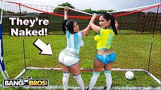BANGBROS - Sexy Latina Pornstars With Big Asses Play Soccer And Get Nailed