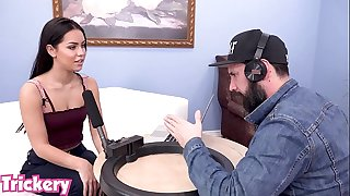 Trickery - Alina Lopez tricked into sex at asmr voice over episode