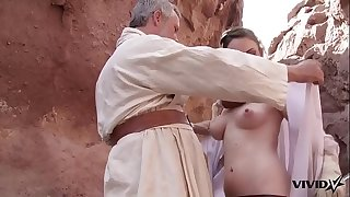 Vivid Parody - Old Ben uses the sexual force with a hot market girl