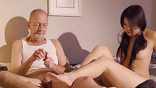 TEENFIDELITY Cindy Starfall Smallish In Front of Old Man